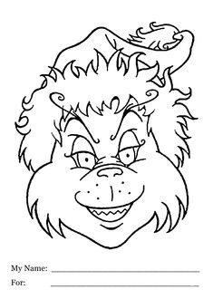 christmas grinch had coloring pages for kids printable free