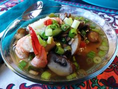 Ginger Broth with Shrimp and Green Onion