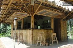 Bamboo kitchen and bar, the heart of the farm.