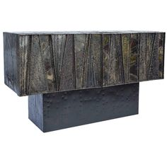 "Brutalist Cabinet by Paul Evans, 1967, Signed and Dated : ""PE 67"" 