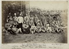 1880 PHOTO INDIA, THE 2nd CHESHIRE REGIMENT - RUINS OF REWAT FORT [Pakistan]