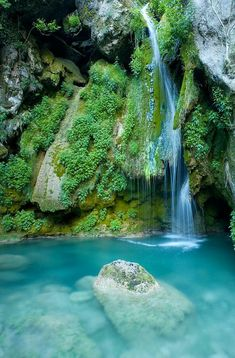 sublim-ature: Waterfall From Urederra River, Spain Xavier Gallego Morell Dream Vacations, Vacation Spots, Vacation Trips, Scenery Pictures, Nature Pictures, Beautiful Places In The World, Places Around The World, Cool Landscapes, Beautiful Landscapes