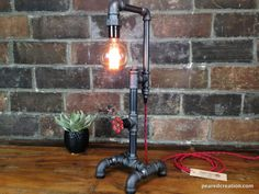 Edison Table Lamp Industrial Style Iron by newwineoldbottles