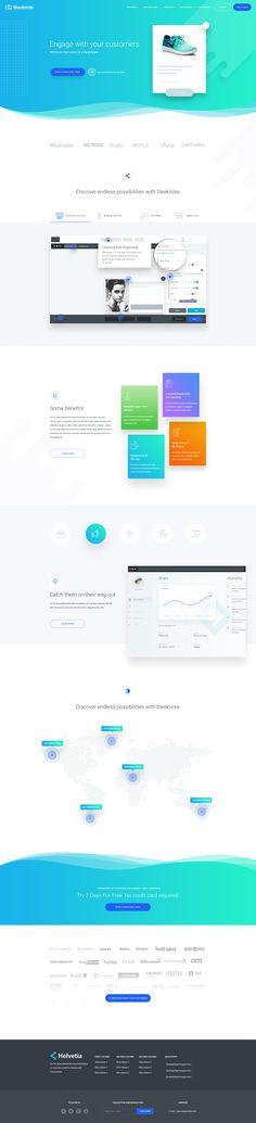 Sleeknote home Website Footer, Website Layout, Landing Page Inspiration, Website Design Inspiration, Page Design, Ui Ux Design, Layout Design, Ui Web, Mobile Design