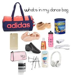 """What's in my dance bag"" by girlygirl001 ❤ liked on Polyvore"