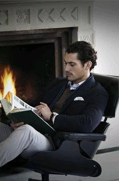David Gandy.... all that's needed here is that red velvet chair!