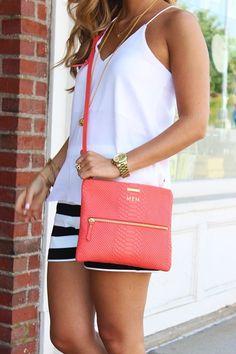 11. #striped Shorts - 20 #tenues chic pour ajouter à #votre garde-robe #Second semestre... → #Fashion