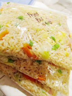 Freezer Fried Rice - soo make 300 and eat every day? lol