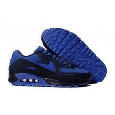 Mens Nike Air Max 90 Black Blue Sky blue look great feeling 99177fc30