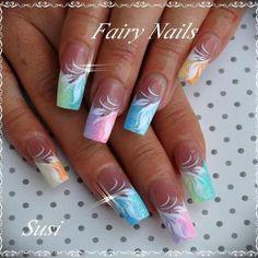 Fairy nails inspiration nails nails, nail art designs et nail designs. Fingernail Designs, Cute Nail Designs, Acrylic Nail Designs, Acrylic Nails, Coffin Nails, Clear Acrylic, Fabulous Nails, Gorgeous Nails, Fancy Nails