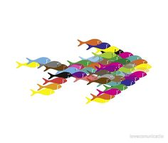 collage drawing fish