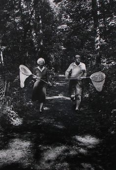 Vladimir and Vera Nabokov, Ithaca, New York, 1958  Carl Mydans/  Not commonly known, but he was an amazing lepidopterist. They just proved one of his evolutionary theories about American butterflies last year.
