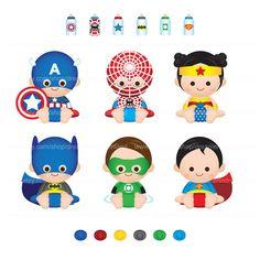 Printable Clipart Clip Art Digital PDF PNG File - Superhero Super Hero Super Baby Boy Gi... from Wonderful Dreamland on TeachersNotebook.com