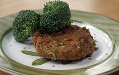 Week 3 - Chickpea Brown Rice Burgers! From Once-a-Month-Mom. (chickpeas, brown rice, broccoli, garlic, onion, pumpkin puree, salt, pepper, that's it!)