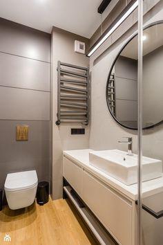 Mieszkanie dla rodziny - Średnia łazienka bez okna, styl nowoczesny - zdjęcie od ZAWICKA-ID Projektowanie wnętrz