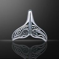 Whale Tail Silver Aboriginal design