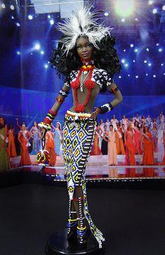 Miss Zambia 2009/2010 Barbie Miss, Barbie Style, African American Dolls, African Dolls, Diva Dolls, Dolls Dolls, Black Barbie, Barbie World, Barbie Friends