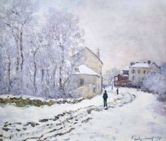 "claudemonet-art: ""Snow at Argenteuil, 1875 Claude Monet Buy Artwork by Claude Monet """