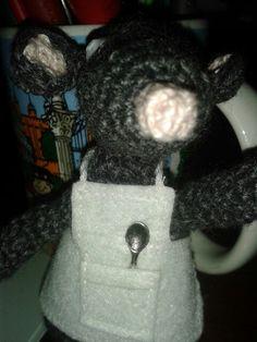 Ratoncito amigurumi inventado por mi