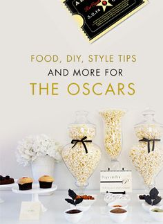 Get ready for Oscar night with recipes, DIYs, and more.