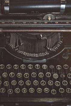 vintage typewriter - computers are more functional but there is something about the click click of the key stroke...
