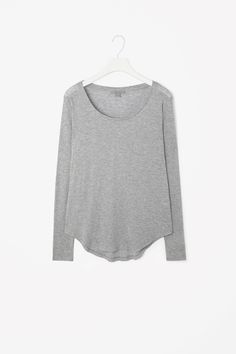 Cos Relaxed Long-Sleeved Top in Light Grey