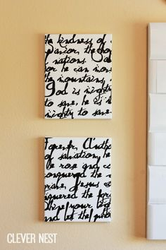 Clever Nest: vinyl song lyric art #silhouette_cameo_projects #vinyl_lettering #diy_canvas_art