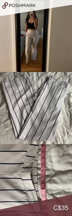 Stripped dress pants Waist is 26 Length from waist to bottom is Very soft fabric In brand new condition Pants Boot Cut & Flare Stripped Dress, Soft Fabrics, Dress Pants, Flare, Pants For Women, Closet, Things To Sell, Dresses, Design