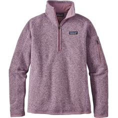 Patagonia Women's Better Sweater Quarter Zip Fleece Jacket, Size: Large, Dragon Purple