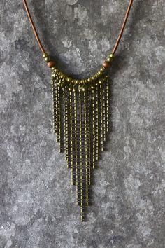 Boho necklace tribal necklace bohemian jewelry di AnankeJewelry