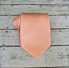 Light Apricot Tie. Silk Tie. Light Peach Tie. Groomsmen by Tietle, $15.00