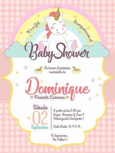 Invitación Baby Shower Unicornio
