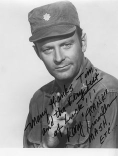 """Larry Linville - Photo from the television program """"M*A*S*H."""" Acquired by mail."""