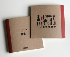 cardboard covered notebook