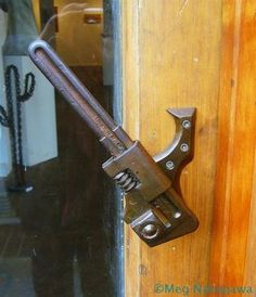 This is a great idea for a handle to the studio I'm building at the cabin - Love this