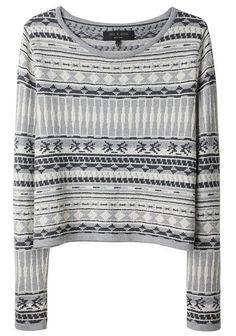 The perfect knit sweater for Fall in Castello gray.