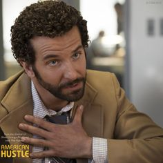 """Those corrupt people. I'm going after them."" Bradley Cooper as FBI agent Richie DiMaso in a film by David O. Mafia, The Best Films, Great Movies, American Hustle Quotes, I Movie, Movie Stars, Best Supporting Actor, Christian Bale, Comb Over"