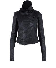 Rick Owens Black Lamb Leather Classic Biker Jacket | Womenswear | Liberty.co.uk