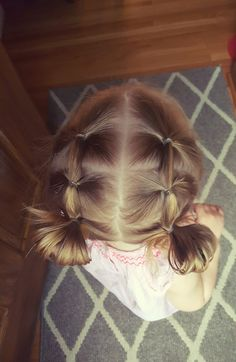 easy hairstyles to do yourself, two braids ending in small buns, grey carpet, blonde hair hair styles for toddlers daughters ▷ 1001 + ideas for beautiful and easy little girl hairstyles Easy Toddler Hairstyles, Easy Little Girl Hairstyles, Baby Girl Hairstyles, Cute Hairstyles For Short Hair, Short Hair Styles, Beautiful Hairstyles, Toddler Hair Dos, Simple Hairstyles, Hairstyle For Baby Girl