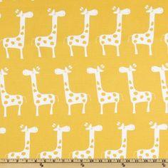 Premier Prints Gisella Slub White/ Yellow Fabric contemporary fabric