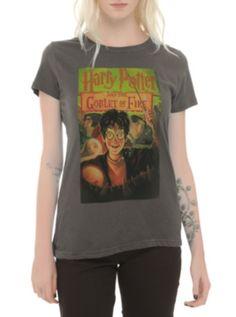 Tee Shirt Officiale Warner Bros Bleu 100/% Coton Harry Potter Hedwig Broom