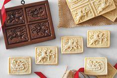 A tender, easy-to-roll springerle cookie variation. Shortbread Recipes, Shortbread Cookies, Cookie Recipes, Baking Recipes, Cookie Ideas, Almond Recipes, Keto Recipes, Dessert Recipes, Walnut Cookies