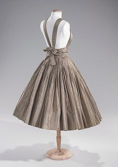 Cocktail dress (view of back), Norman Norell, ca. 1955, Brooklyn Museum Costume Collection at The Metropolitan Museum of Art