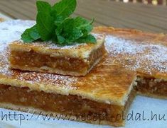 ALMÁS PITE My Recipes, Favorite Recipes, Hungarian Recipes, French Toast, Cheesecake, Muffin, Food And Drink, Pie, Meals