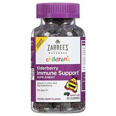 Zarbee's Naturals Children's Elderberry Immune Support* Gummies with Vitamin C, Zinc, Natural Berry Flavor, 42 Count - Health and Personal Care Product Search Elderberry Gummies, Vitamin C And Zinc, Kits For Kids, Kids Health, Healthy Kids, Healthy Living, Stay Healthy, Vitamins And Minerals, Health