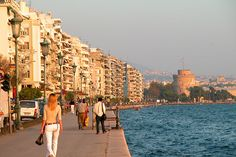 Thessaloniki, Greece seafront