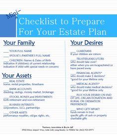 Mini Checklist for Estate Planning