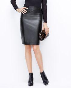 Petite Leather Skirt