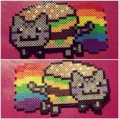 Nyan Cat perler beads by darbygasm