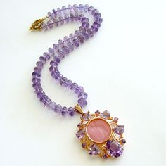 ~ Living a Beautiful Life ~ #1 Montepulciano Choker Necklace – Amethyst Venetian Glass Intaglio